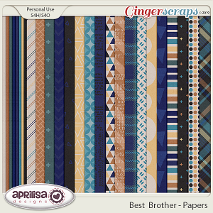 Best Brother - Papers by Aprilisa Designs