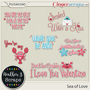Sea of Love WORD ART by Heather Z Scraps