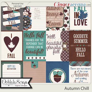 Autumn Chill Journal and Pocket Scrap Cards
