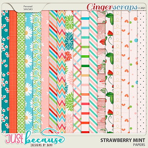 Strawberry Mint Papers by JB Studio