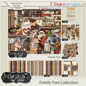 Family Tree Digital Scrapbook Bundle
