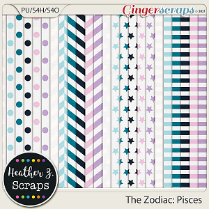 The Zodiac: Pisces EXTRA PAPERS by Heather Z Scraps