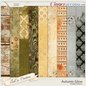 Autumn Glow Shabby Papers by LouCee Creations