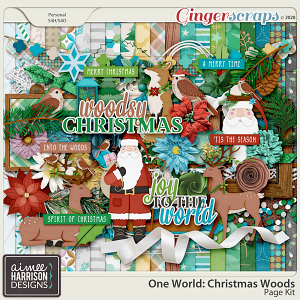Christmas Woods Page Kit by Aimee Harrison