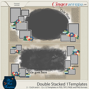 Double Stacked 1 Templates by Miss Fish