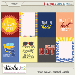 Heat Wave Journal Cards