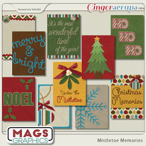 Mistletoe Memories JOURNAL CARDS by MagsGraphics