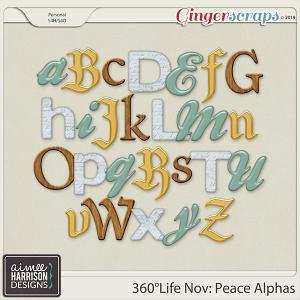 360°Life Nov: Peace Alpha Sets by Aimee Harrison