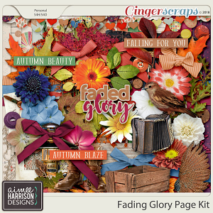 Fading Glory Page Kit by Aimee Harrison
