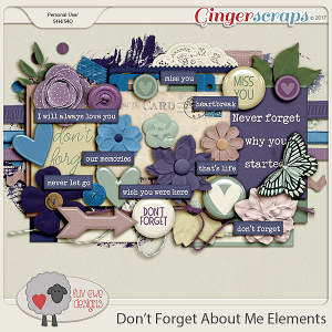 Don't Forget About Me Elements by Luv Ewe Designs