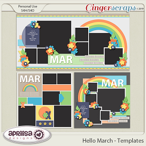 Hello March - Template Pack