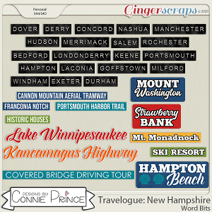 Travelogue New Hampshire - Word Bits by Connie Prince