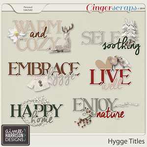 Hygge Titles by Aimee Harrison
