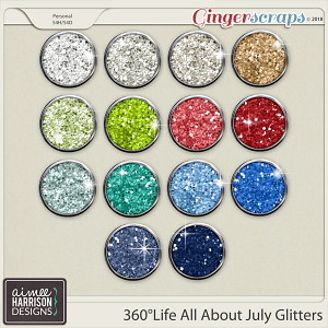 360°Life All About July Glitters by Aimee Harrison
