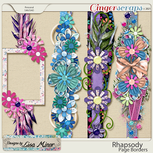Rhapsody Page Borders from Designs by Lisa Minor