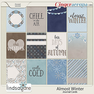 Almost Winter Journal Cards by Lindsay Jane