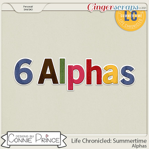 Life Chronicled: Summertime - Alpha Pack AddOn by Connie Prince
