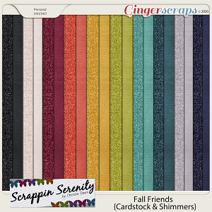 Fall Friends Cardstock And Shimmer Papers