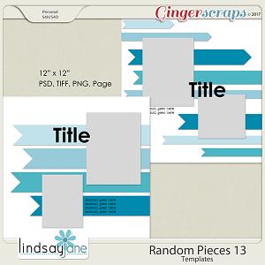 Random Pieces 13 Templates by Lindsay Jane
