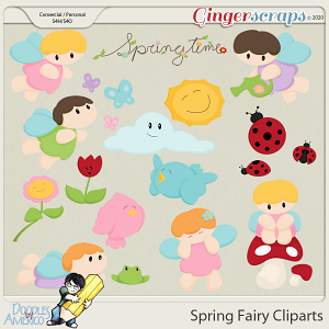 Doodles By Americo: Spring Fairy Cliparts