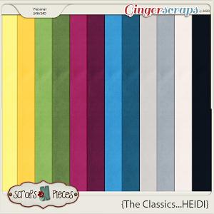 The Classics...Heidi Cardstocks by Scraps N Pieces
