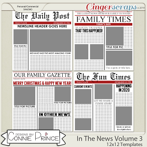 In The News Volume 3 - 12x12 Temps (CU Ok) by Connie Prince