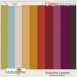 Autumn Leaves Embossed Papers by Lindsay Jane