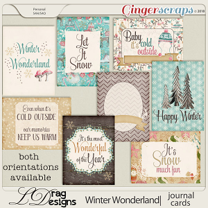 Winter Wonderland: Journal Cards by LDragDesigns