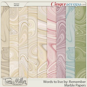 Words to live by Remember Marble Papers by Tami Miller Designs