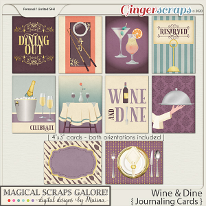 Wine & Dine (journaling cards)