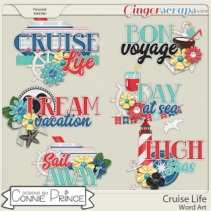 Cruise Life - Word Art Pack by Connie Prince