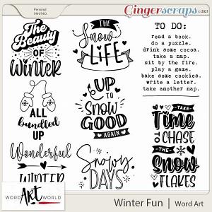 Winter Fun Word Art