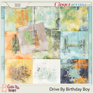 Drive By Birthday Boy Painted Papers