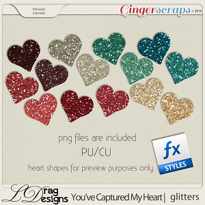 You've Captured My Heart: Glitterstyles by LDragDesigns