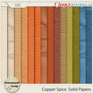 Copper spice Solid papers