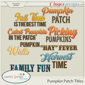 Pumpkin Patch Titles