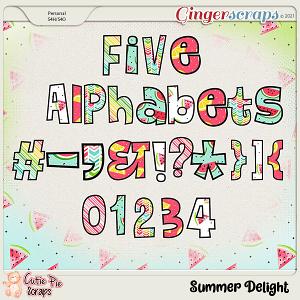 Summer Delight Alphabets