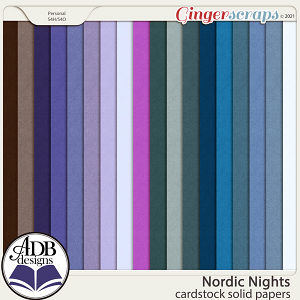 Nordic Nights Solid Papers by ADB Designs