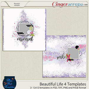 Beautiful Life 4 Templates by Miss Fish