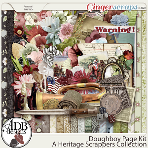 Doughboy Page Kit by ADB Designs