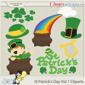 Doodles By Americo: St Patrick's Day Vol 1 Cliparts