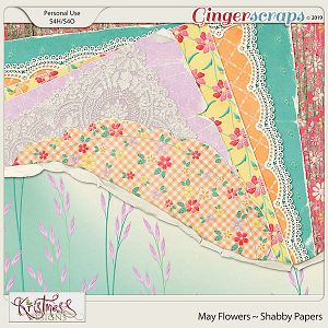 May Flowers Shabby Papers