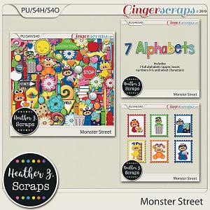 Monster Street BUNDLE by Heather Z Scraps