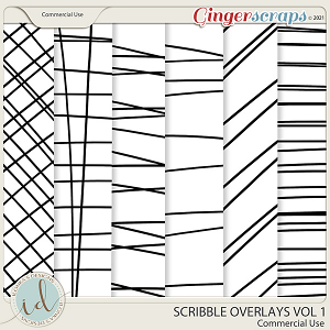 CU Scribble Overlays Vol 1 by Ilonka's Designs