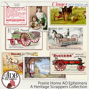 Prairie Home Add On Ephemera by ADB Designs