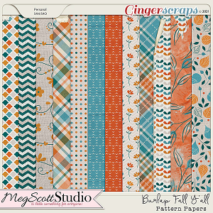 Burlap Fall Y'all Pattern Papers