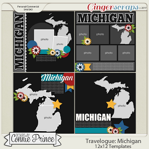 Travelogue Michigan - 12x12 Temps (CU Ok)