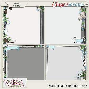 Stacked Paper Templates Set 5