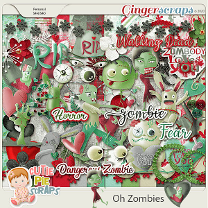 OH Zombies-Page Kit
