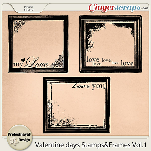 Valentine Day Stamps&Frames Vol.1